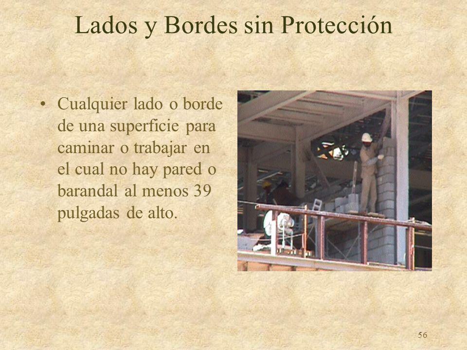 Lados y Bordes sin Protección