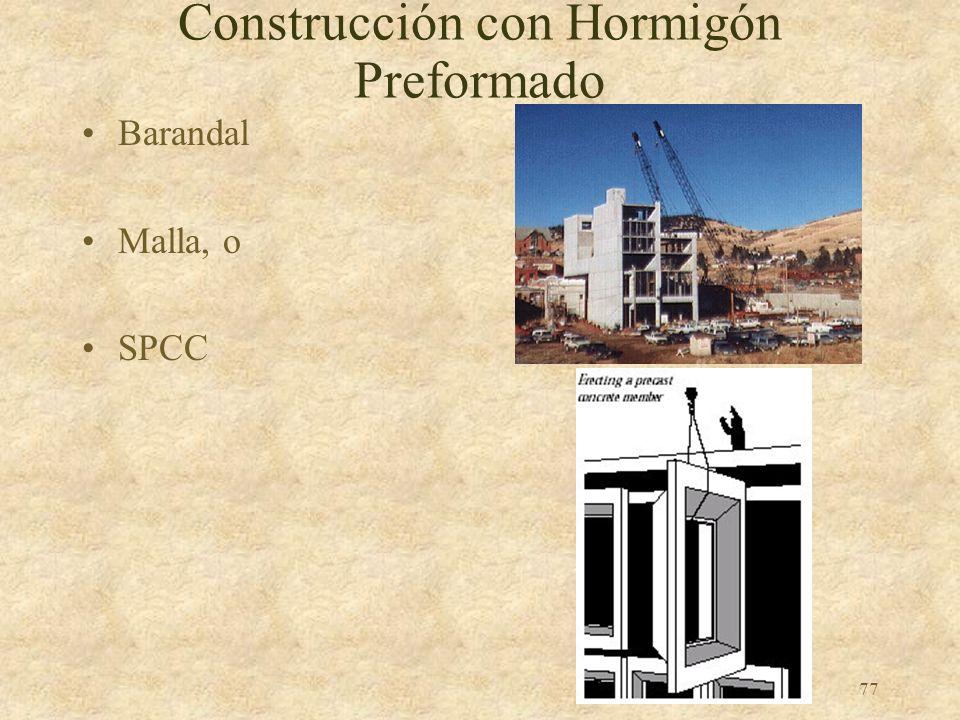 Construcción con Hormigón Preformado