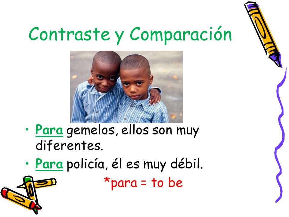 Contraste y Comparación