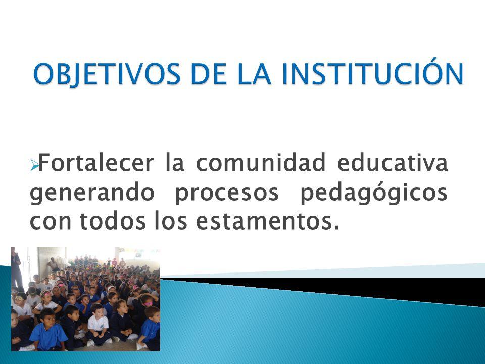 OBJETIVOS DE LA INSTITUCIÓN