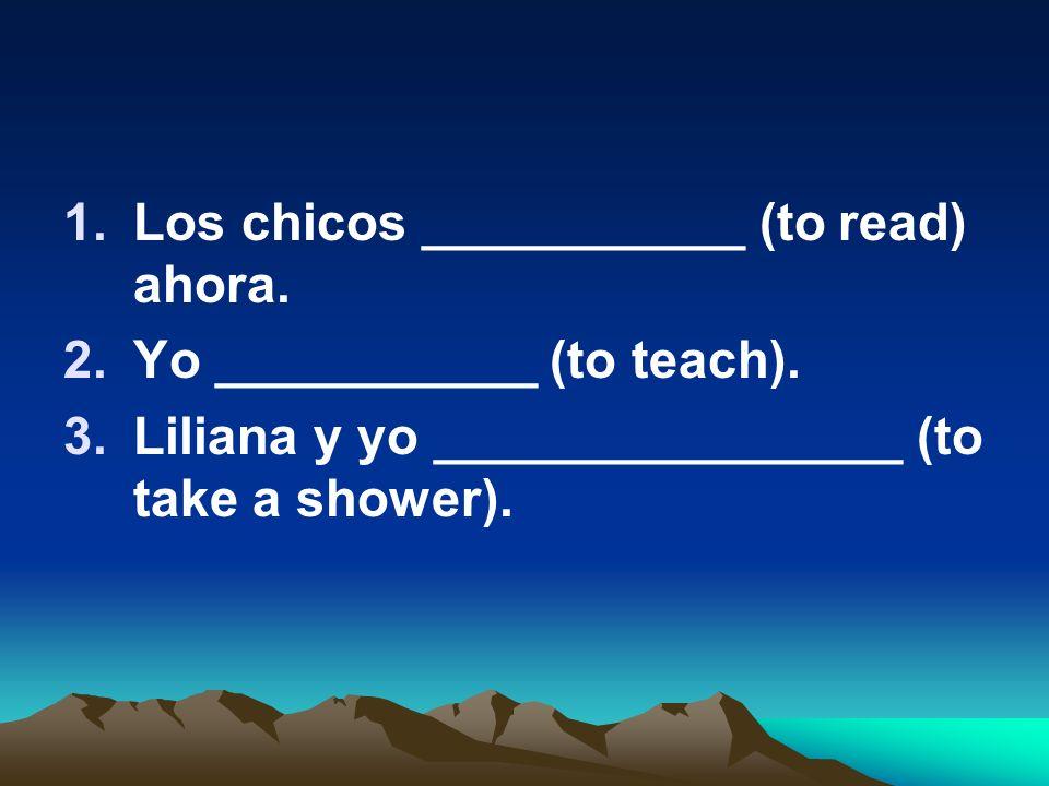 Los chicos ___________ (to read) ahora.