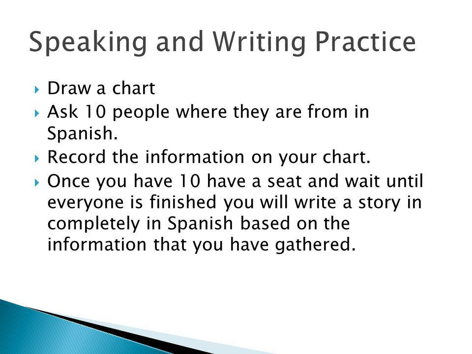 Speaking and Writing Practice