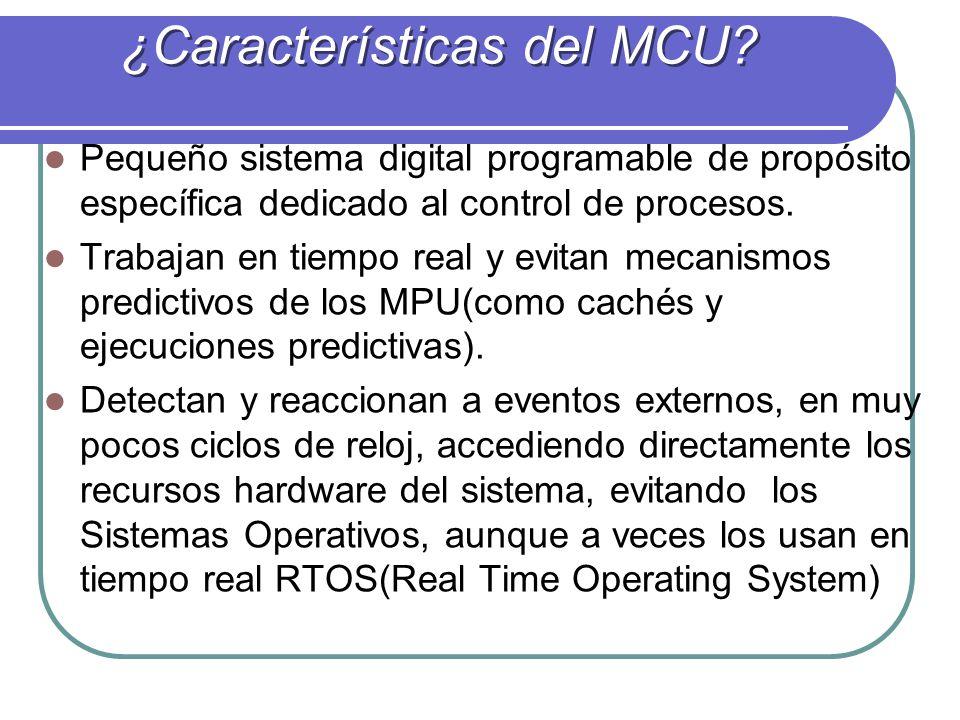 ¿Características del MCU