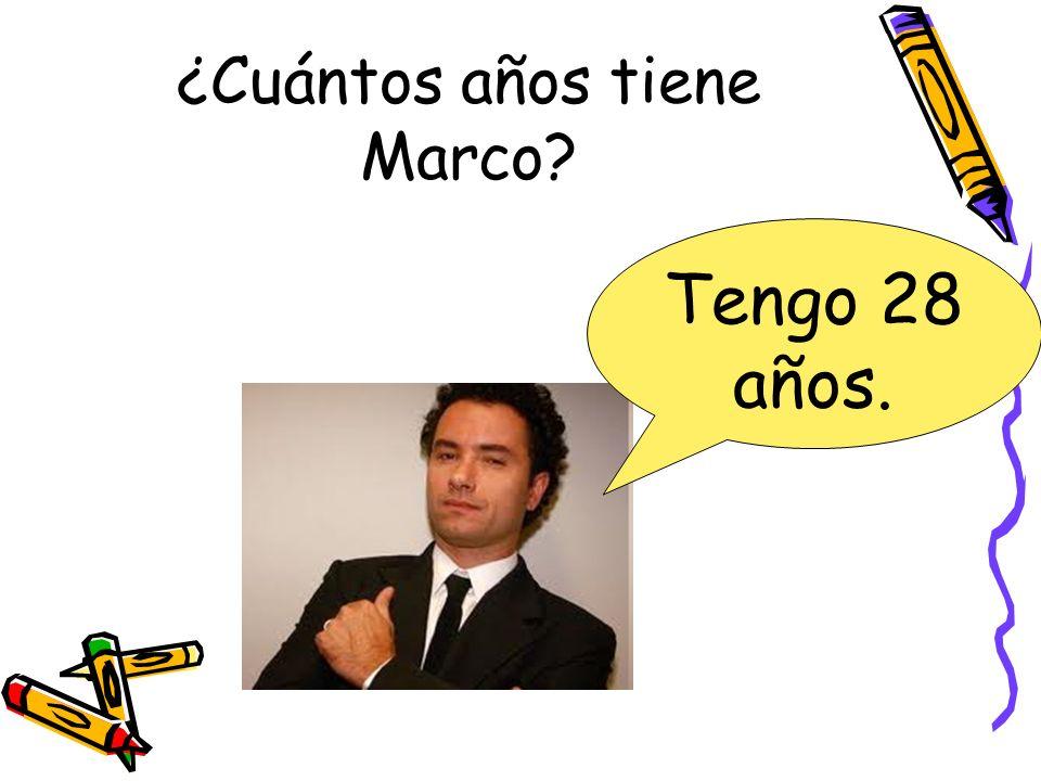¿Cuántos años tiene Marco