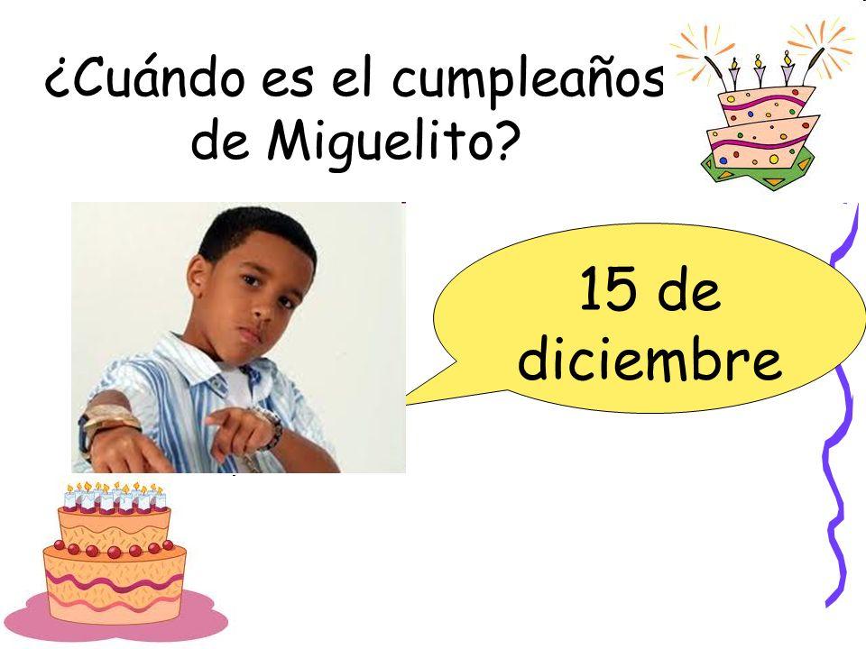 ¿Cuándo es el cumpleaños de Miguelito