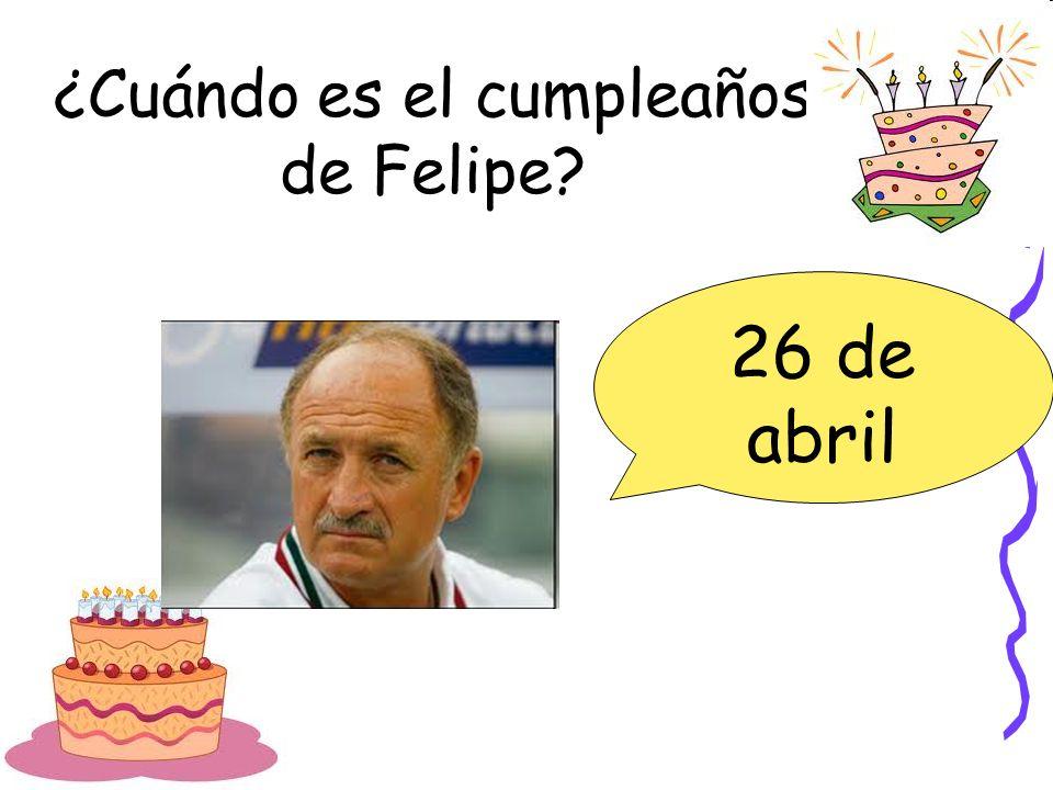 ¿Cuándo es el cumpleaños de Felipe