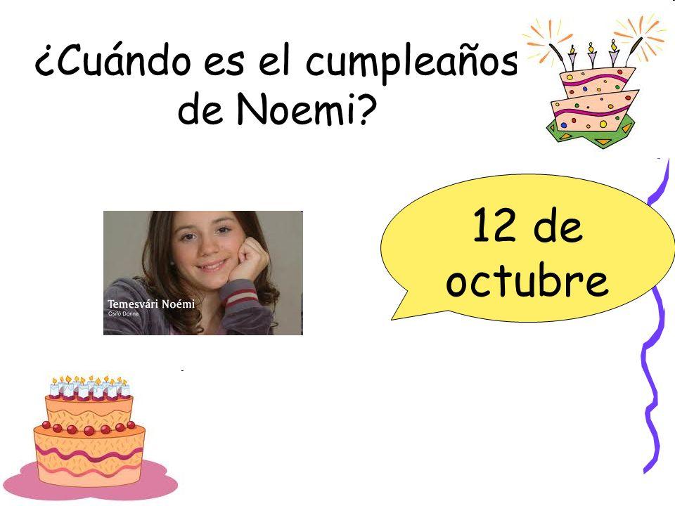 ¿Cuándo es el cumpleaños de Noemi