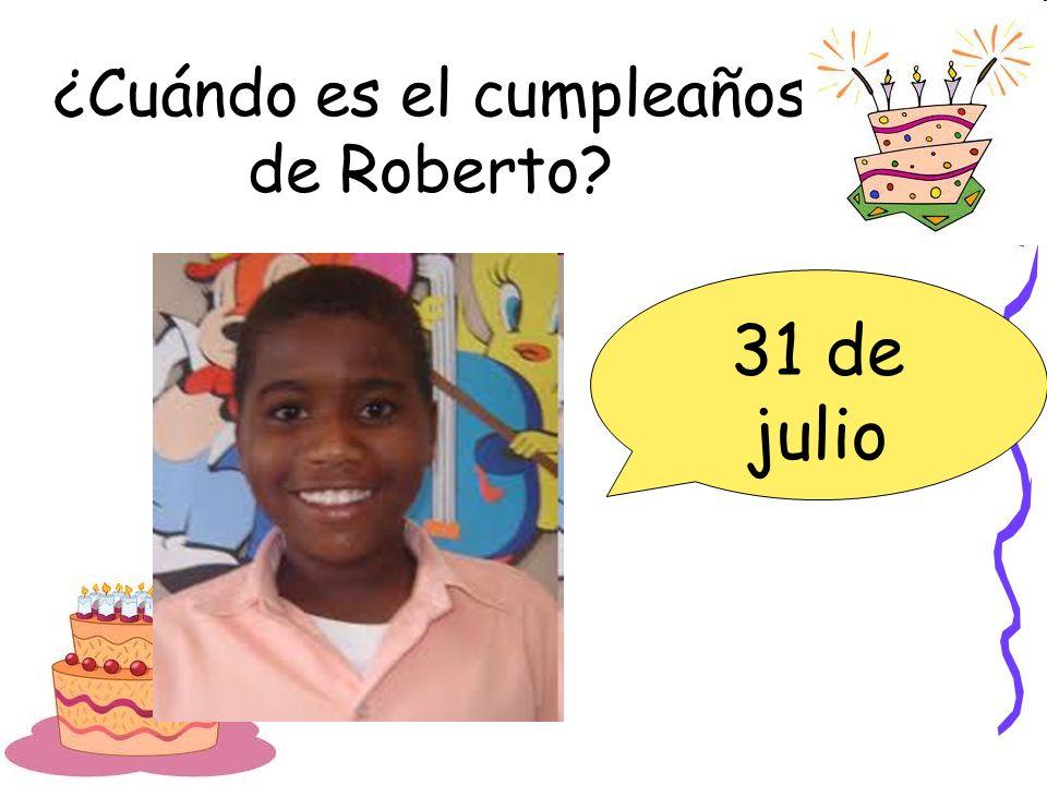 ¿Cuándo es el cumpleaños de Roberto