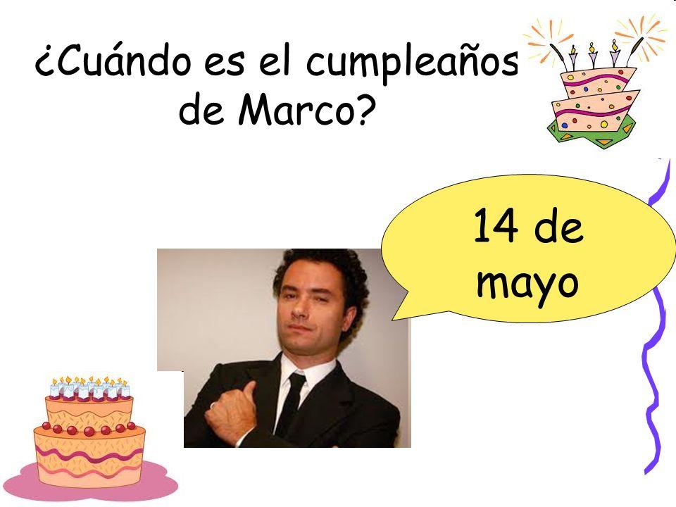 ¿Cuándo es el cumpleaños de Marco