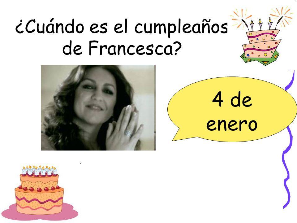 ¿Cuándo es el cumpleaños de Francesca