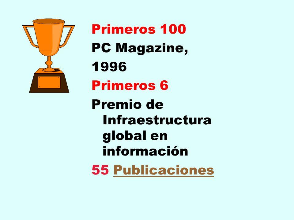 Premio de Infraestructura global en información