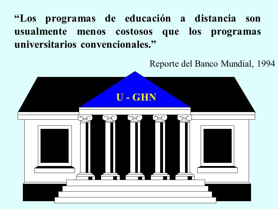 Los programas de educación a distancia son usualmente menos costosos que los programas universitarios convencionales.