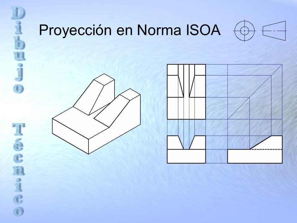 Proyección en Norma ISOA
