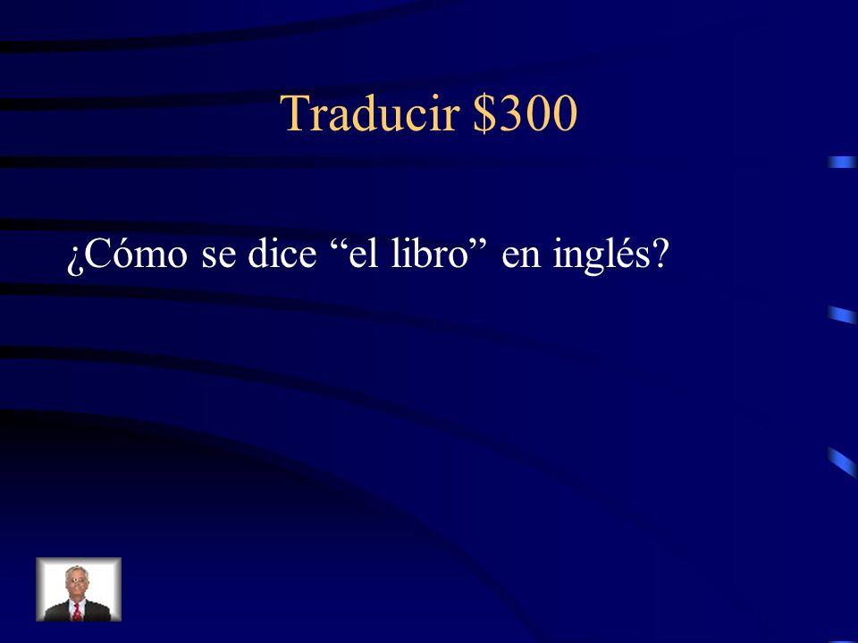 Traducir $300 ¿Cómo se dice el libro en inglés