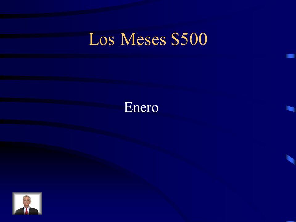 Los Meses $500 Enero