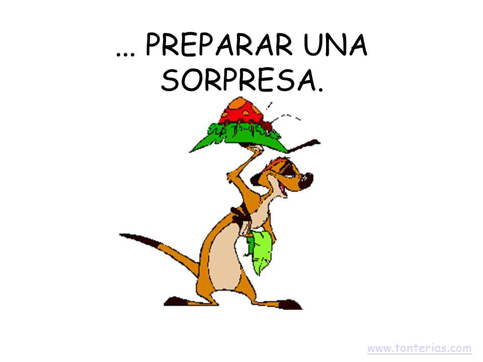 ... PREPARAR UNA SORPRESA. www.tonterias.com