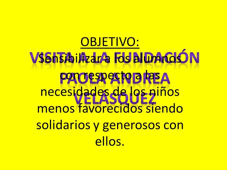 Visita a la fundación Paola Andrea Velásquez