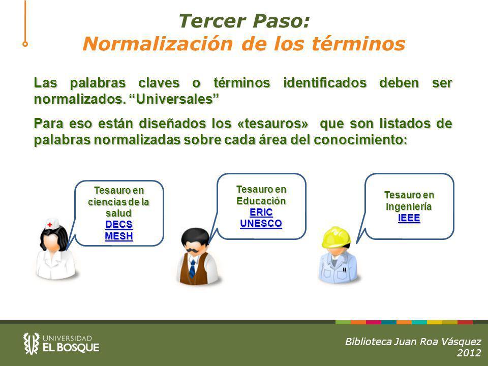 Normalización de los términos