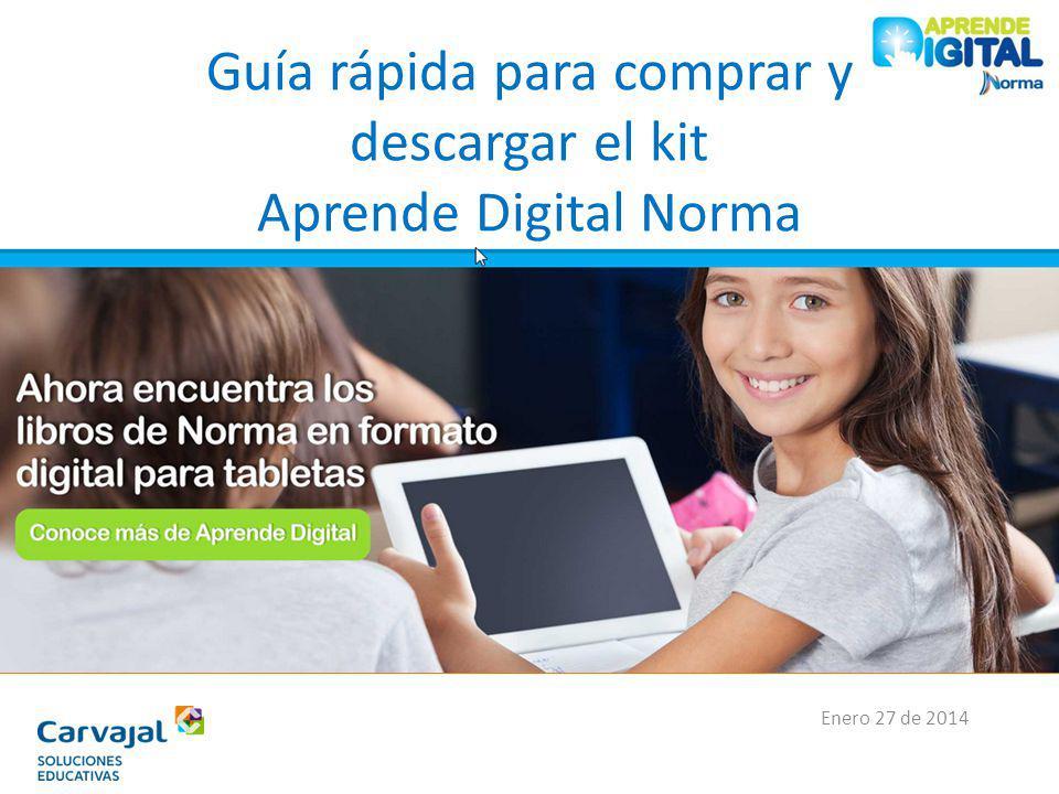 Guía rápida para comprar y descargar el kit Aprende Digital Norma