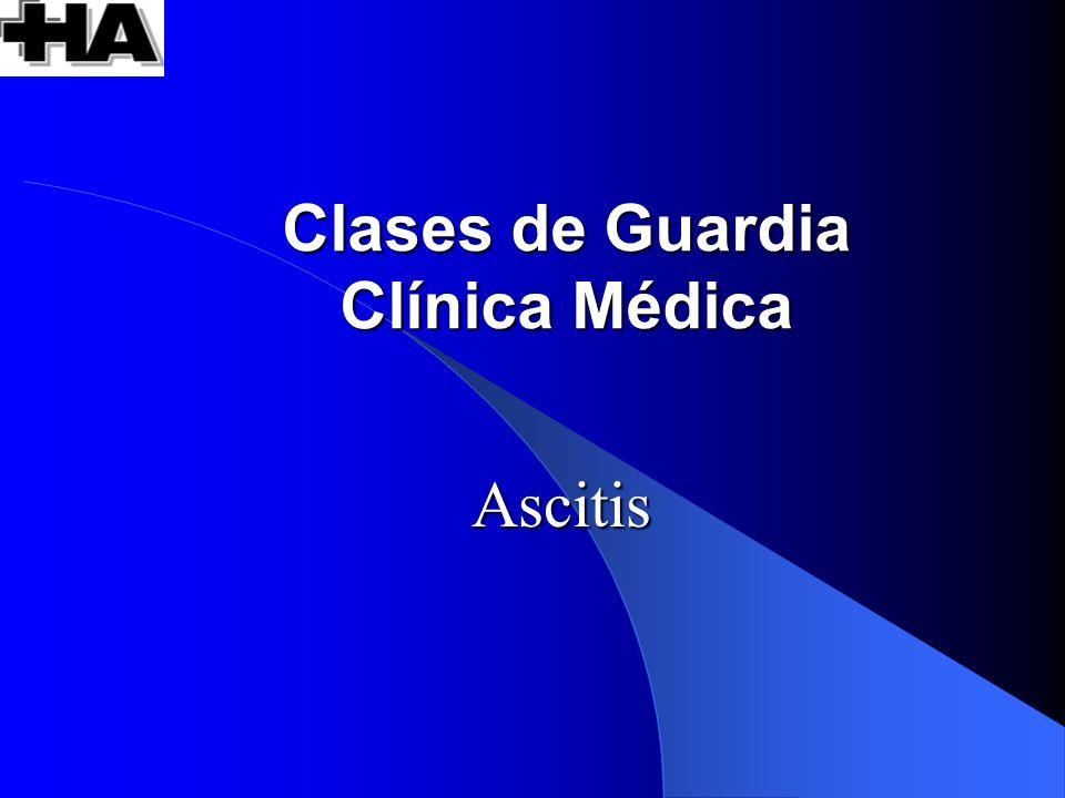 Clases de Guardia Clínica Médica
