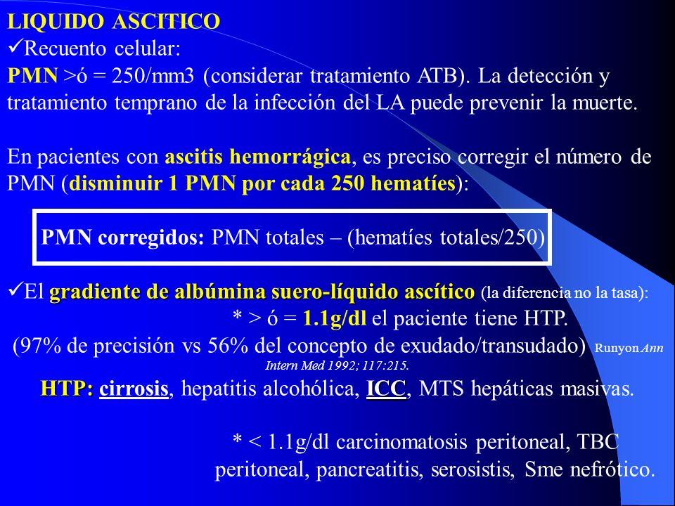 HTP: cirrosis, hepatitis alcohólica, ICC, MTS hepáticas masivas.