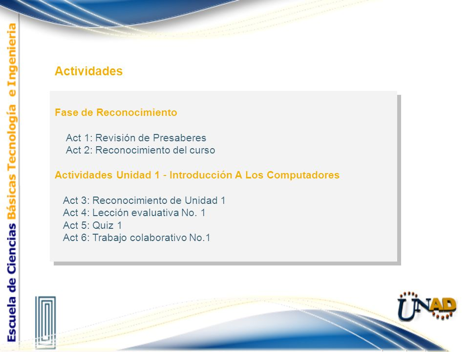 Actividades Fase de Reconocimiento Act 1: Revisión de Presaberes