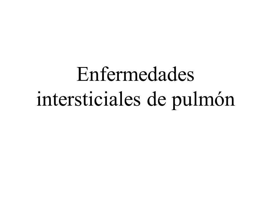 Enfermedades intersticiales de pulmón