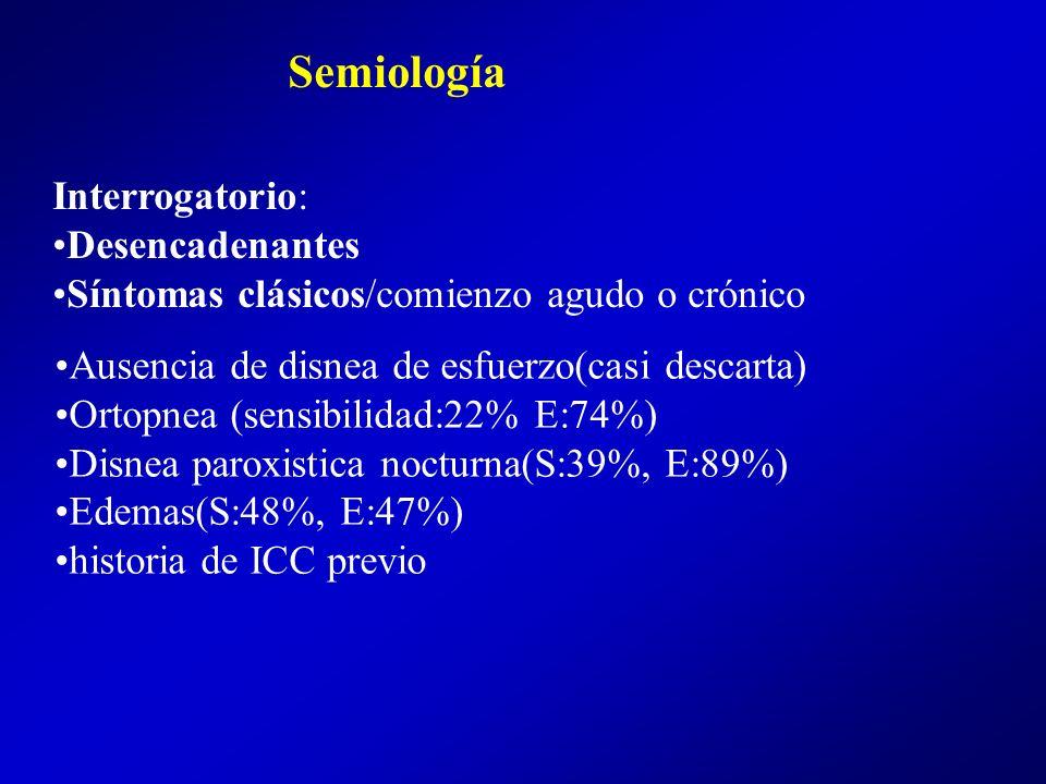 Semiología Interrogatorio: Desencadenantes