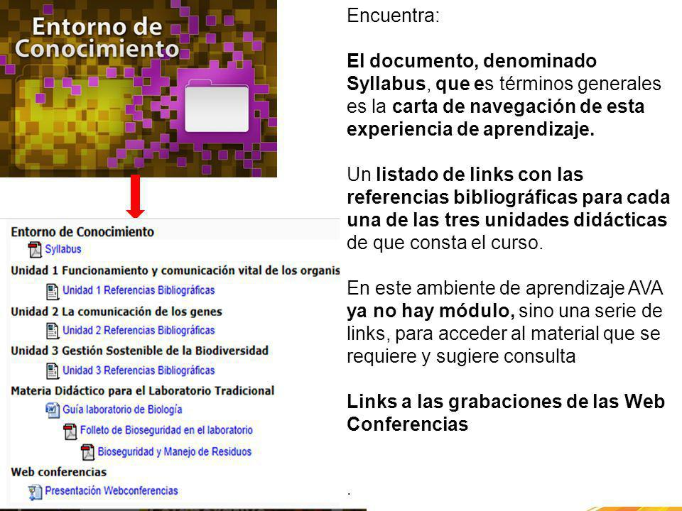 Links a las grabaciones de las Web Conferencias