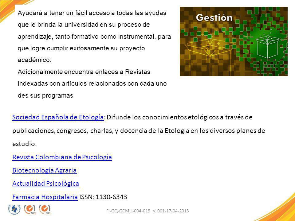 Revista Colombiana de Psicología Biotecnología Agraria