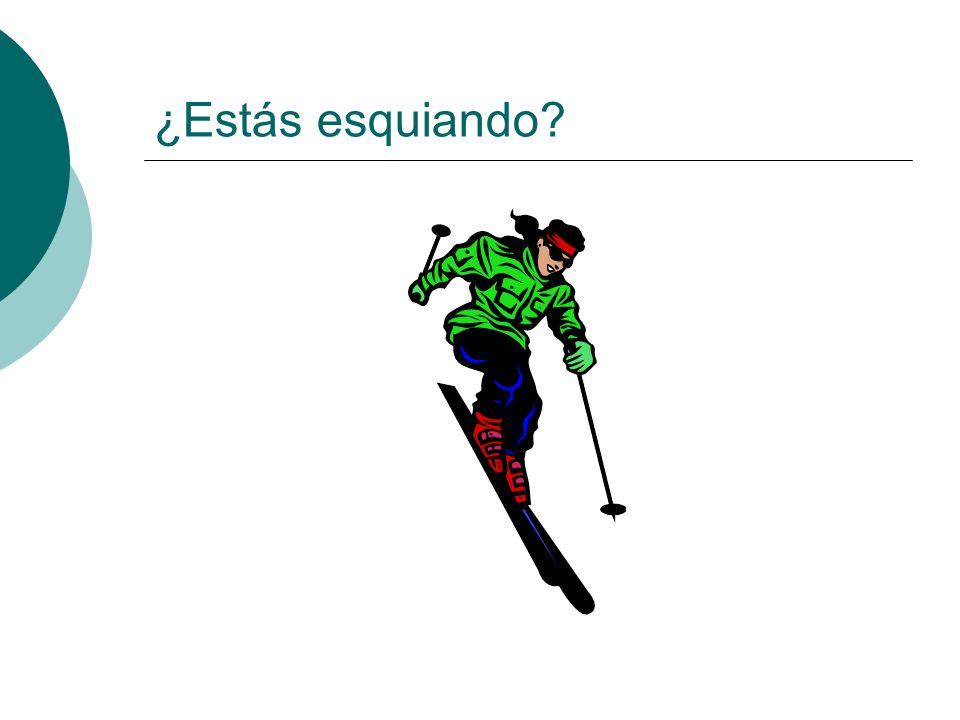 ¿Estás esquiando