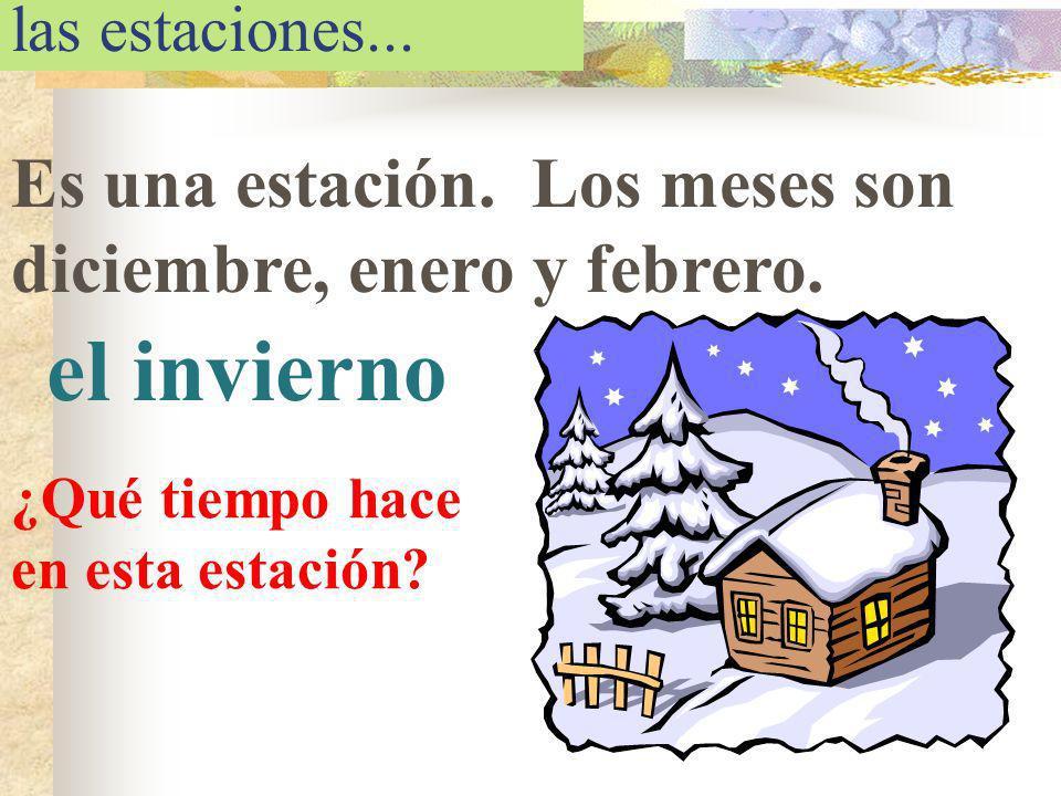 el invierno Es una estación. Los meses son diciembre, enero y febrero.
