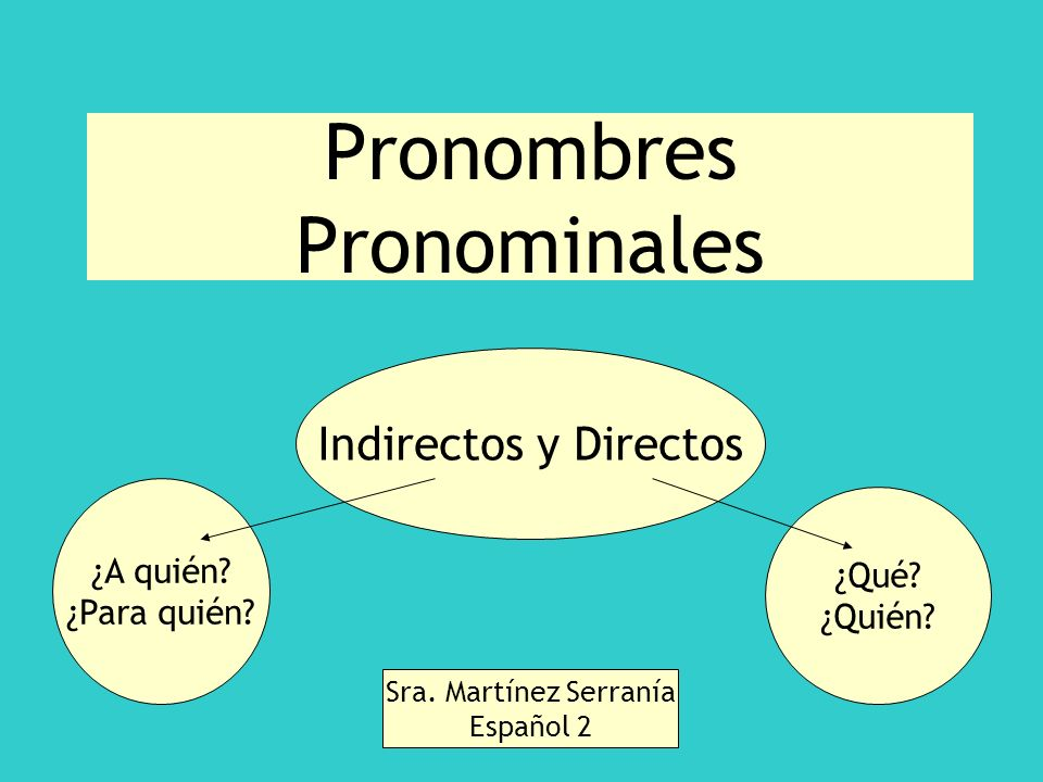 Pronombres Pronominales