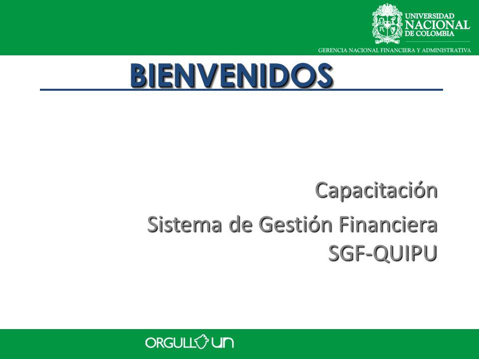 Capacitación Sistema de Gestión Financiera SGF-QUIPU