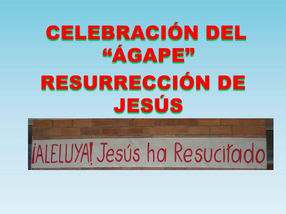 CELEBRACIÓN DEL ÁGAPE RESURRECCIÓN DE JESÚS