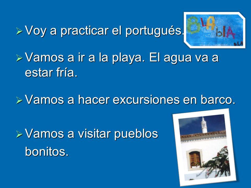 Voy a practicar el portugués.