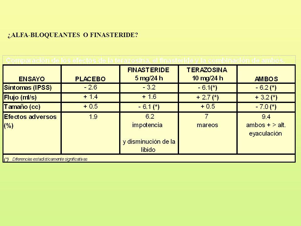 ¿ALFA-BLOQUEANTES O FINASTERIDE