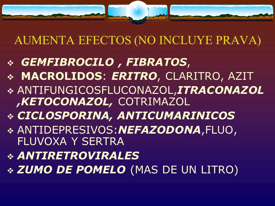 AUMENTA EFECTOS (NO INCLUYE PRAVA)