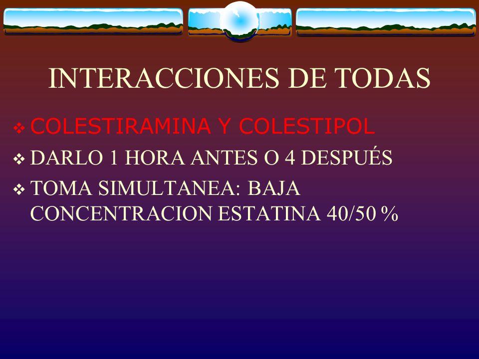 INTERACCIONES DE TODAS