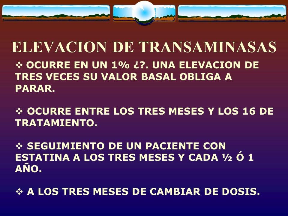 ELEVACION DE TRANSAMINASAS