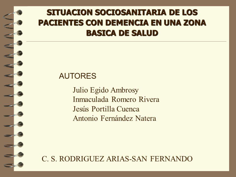 SITUACION SOCIOSANITARIA DE LOS PACIENTES CON DEMENCIA EN UNA ZONA BASICA DE SALUD