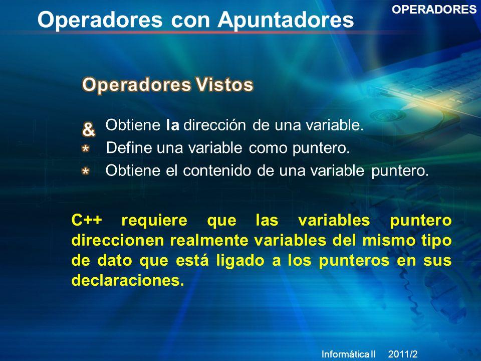 Operadores con Apuntadores
