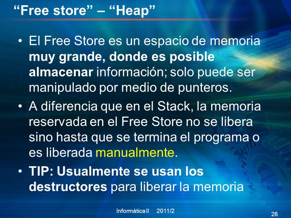 Free store – Heap