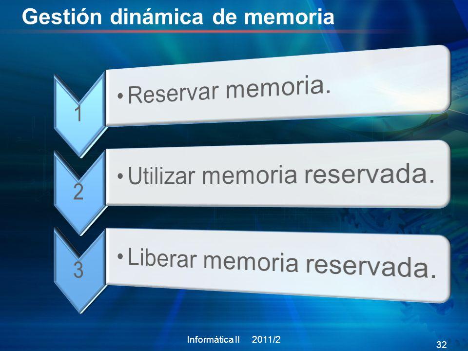 Gestión dinámica de memoria
