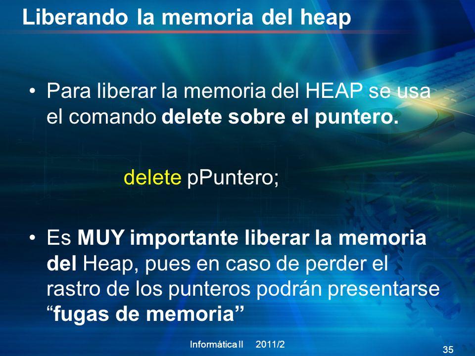 Liberando la memoria del heap