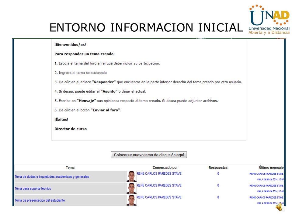 ENTORNO INFORMACION INICIAL