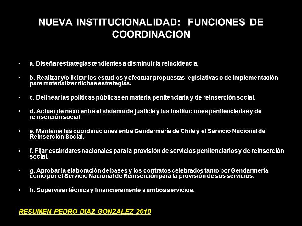 NUEVA INSTITUCIONALIDAD: FUNCIONES DE COORDINACION