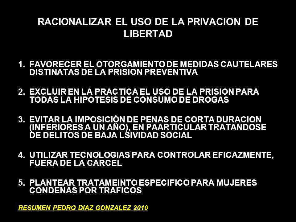 RACIONALIZAR EL USO DE LA PRIVACION DE LIBERTAD