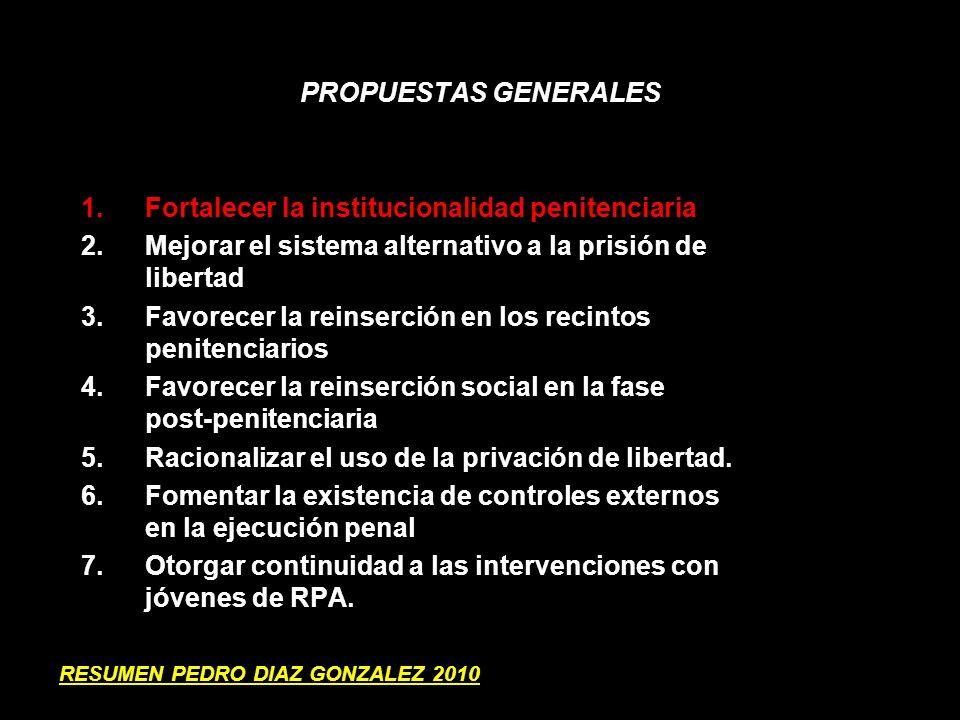 Fortalecer la institucionalidad penitenciaria
