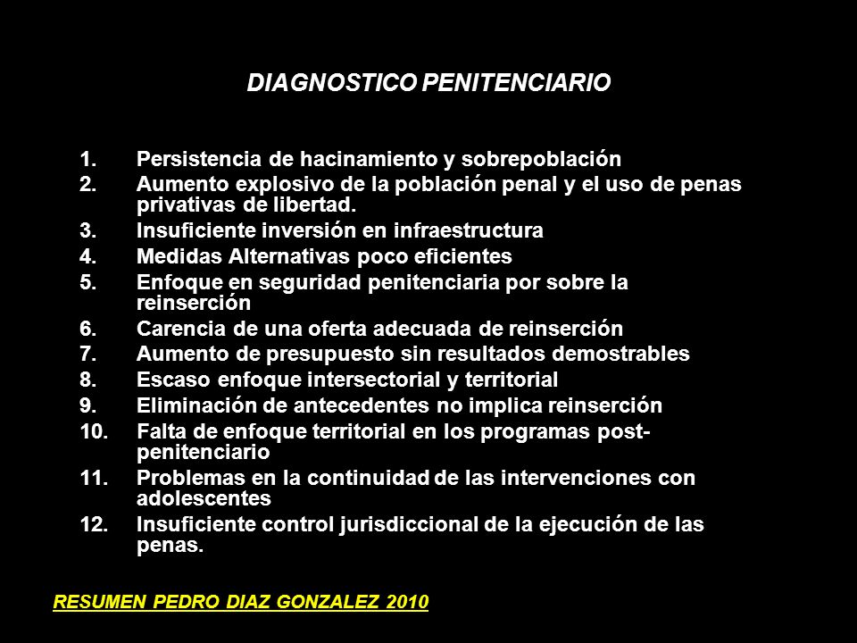 DIAGNOSTICO PENITENCIARIO